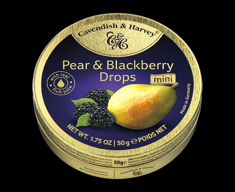 Pear & Blackberry Drops 50g
