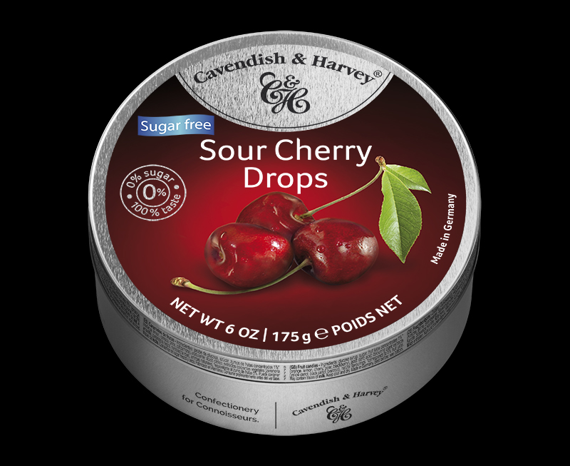Sour Cherry Drops Sugar Free 175g