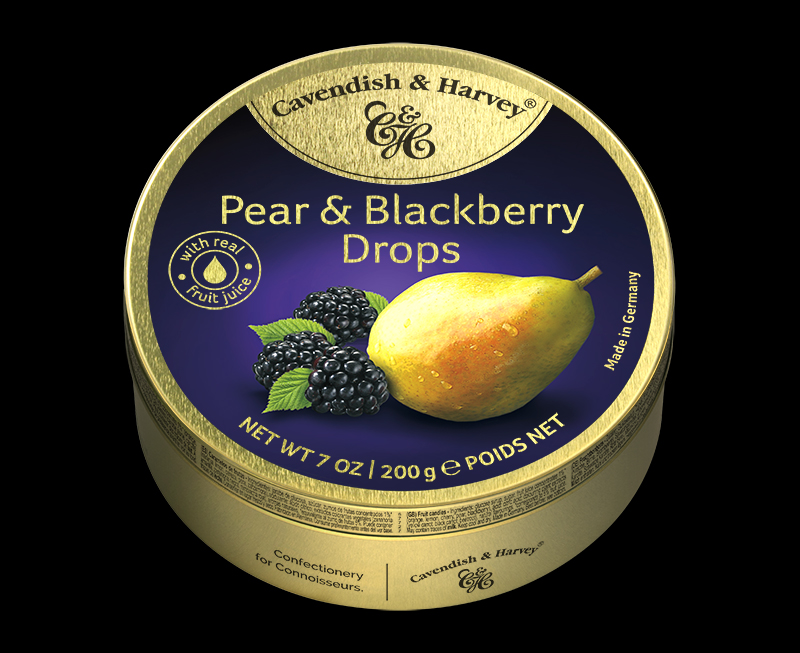 Pear & Blackberry Drops 200g